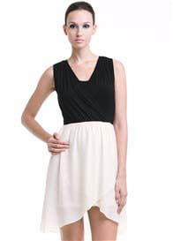 Dote - Paige Nursing Dress in Black/Cream