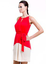 Dote - Rachel Nursing Dress in Red/Cream