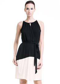 Queen Bee Rachel Nursing Dress in Black/Cream by Dote Nursingwear