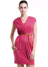 Queen Bee Joan Nursing Dress in Pink by Dote Nursingwear