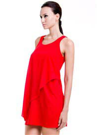 Queen Bee Stacy Nursing Dress in Red by Dote Nursingwear