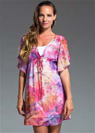 Milky Way - Calypso Tunic in Desire Print w Nursing Slip