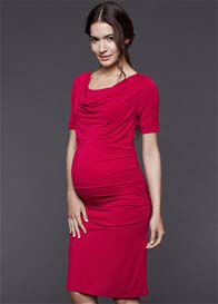 Dote - Eva Cowl Nursing Dress in Fuchsia