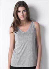 Queen Bee Classic Nursing Tank Top in Grey by Dote Nursingwear