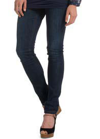 Queen Bee Dark Wash Over Bump Slim Leg Maternity Jeans by Esprit