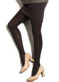 Queen Bee Mild Compression Maternity Pantyhose in Black by Preggers