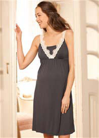 Queen Bee Lacey Strap Maternity/Nursing Nightdress by Amoralia