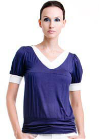 Dote - Slate Nursing Top in Navy