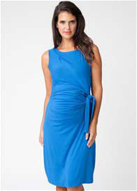 Ripe Maternity - Blue Side Tie Dress