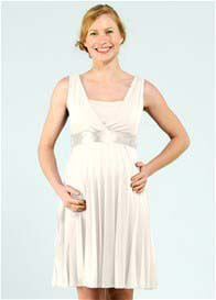 Queen Bee Josephine Maternity/Nursing Dress w 2 Sash Belts by Pomkin