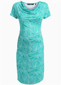 Queen Bee Kacia Green Print Maternity Dress by Noppies