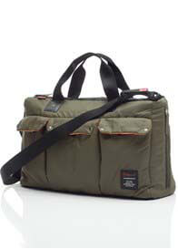 Queen Bee Soho Messenger Diaper Bag in Khaki by Babymel