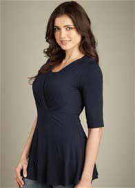 Maternal America - Tummy Tuck Nursing Top w Sleeves