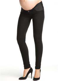 Queen Bee Pitch Black Maternity Denim Jean Legging by J Brand