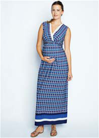 Queen Bee Crystal Print Maternity/Nursing Maxi Dress by Maternal America