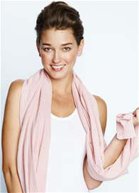 Queen Bee Nursing Scarf in Dusty Pink by Maternal America