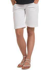 Queen Bee White Stretch Maternity Denim Shorts by Esprit