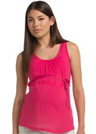 Queen Bee Raspberry Red Maternity Tank Top by Esprit