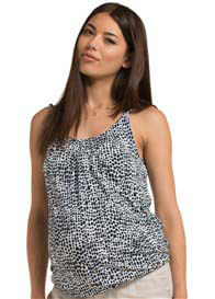 Queen Bee Cinder Blue Print Maternity Cami Top by Esprit
