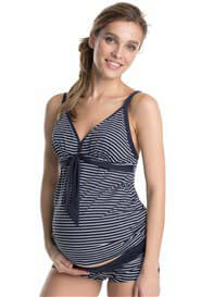 Queen Bee Saqua Koka Blue Striped Maternity Swimsuit by Esprit