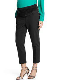 Queen Bee Cropped Black Jacquard Maternity Dress Pants by Esprit