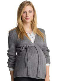 Queen Bee Grey Knit Maternity Cardigan by Esprit