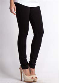 Queen Bee Black Maternity Ponte Leggings by LA Made