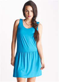Queen Bee Ione Blue Breastfeeding Tank Dress by Floressa