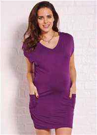 Queen Bee Emerson Purple Pocket Maternity Dress by Trimester Clothing