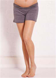 Queen Bee Phoenix Grey Foldover Maternity Shorts by Trimester Clothing