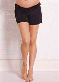 Queen Bee Kendall Black Fold Over Maternity Shorts by Trimester Clothing