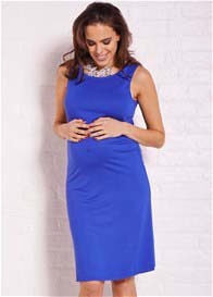 Queen Bee Sasha Cobalt Blue Maternity Shift Dress by Trimester Clothing
