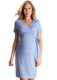 Seraphine - Renata Baby Blue Polkadot Dress