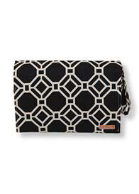 Queen Bee Clutch Diaper Bag in Black Lattice Print by Foxy Vida