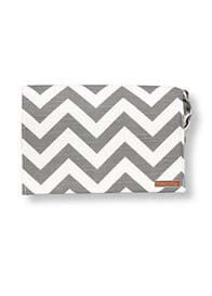 Queen Bee Clutch Diaper Bag in Grey Chevron Stripe by Foxy Vida