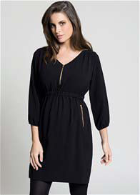 Queen Bee Belinda Black Maternity/Nursing Tunic Dress by Ripe Maternity