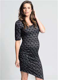 Queen Bee Baroque Black Lace Maternity Dress by Ripe Maternity