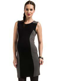 Queen Bee Resa Black/Grey Bodycon Maternity Dress by Noppies