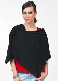 Queen Bee Compact Nursing Shawl in Black by Dote Nursingwear