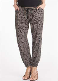 Queen Bee Tribal Print Maternity Pants by Seraphine