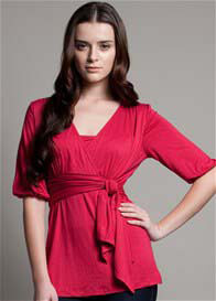 Queen Bee Tricia Breastfeeding Top in Fuchsia by Dote Nursingwear