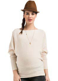 Queen Bee Camilla Off-White Knit Maternity Jumper by Noppies