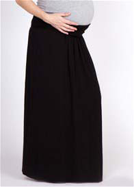 Queen Bee Black Maternity Maxi Skirt/Dress by LA Made