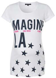 Queen Bee Imagine Stars Maternity T-Shirt by Supermom