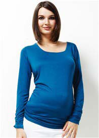 Queen Bee It Must Be Fate Blue Long Sleeved Maternity Tee by Trimester