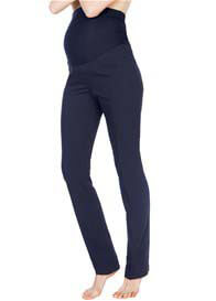 Queen Bee Navy Blue Straight Leg Maternity Trousers by Seraphine