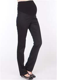 Queen Bee Black Slim Leg Cotton Maternity Trousers by Seraphine