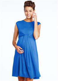 Queen Bee Cascade Maternity Dress in Royal Blue by Maternal America