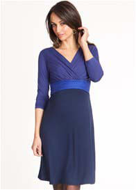 Queen Bee Adelaide Navy/Royal Blue Maternity/Nursing Dress by Seraphine