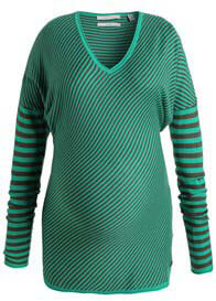 Queen Bee Laurel Candy Green Striped Maternity Knit Pullover by Esprit